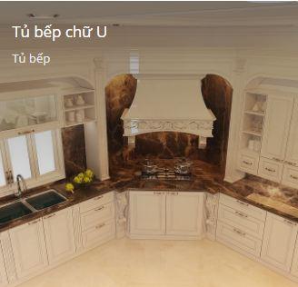 Tủ bếp chữ U
