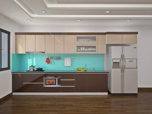 Tủ bếp acrylic đẹp chịu nước