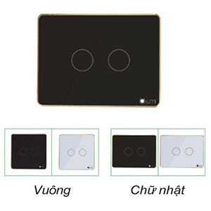 Công tắc cảm ứng 2 nút nguồn 1 dây