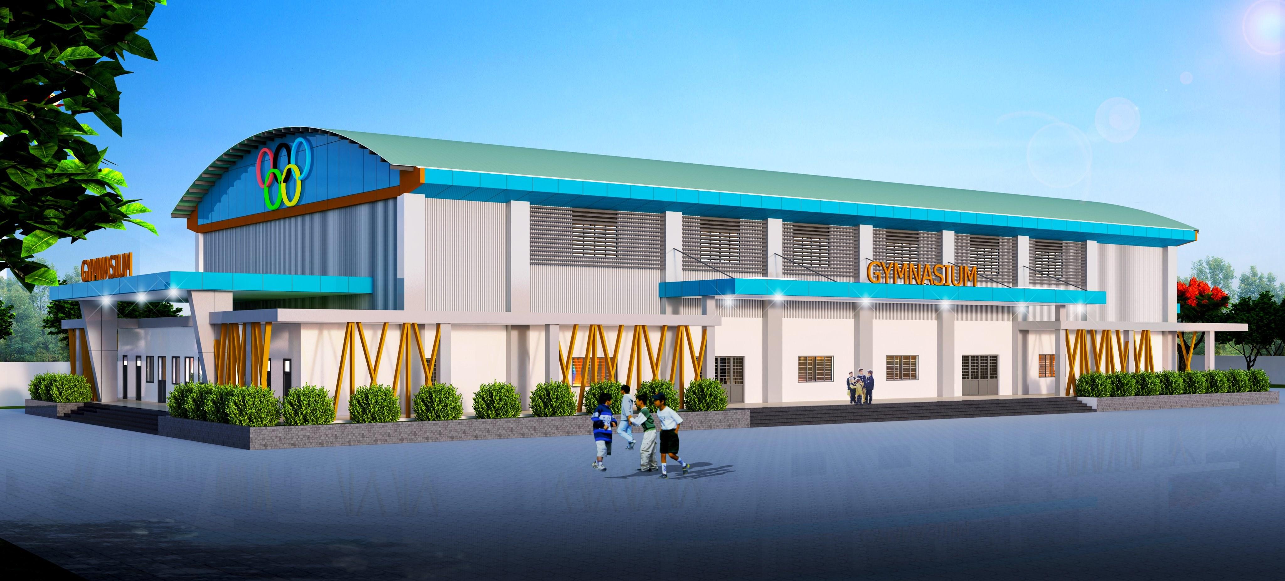 Nhà thi đấu trường THPT Phù Cát Bình Định