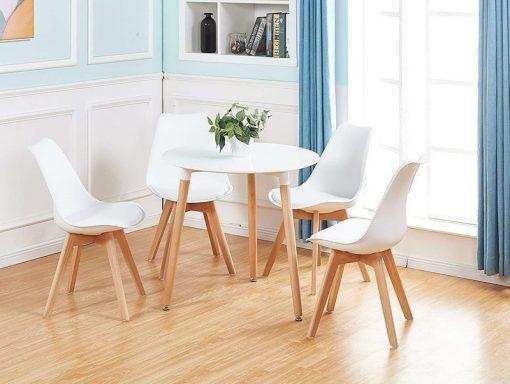 Bộ bàn ăn 4 ghế Eames mặt nệm