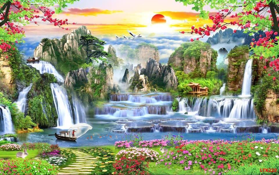 Tranh đá quý phong cảnh