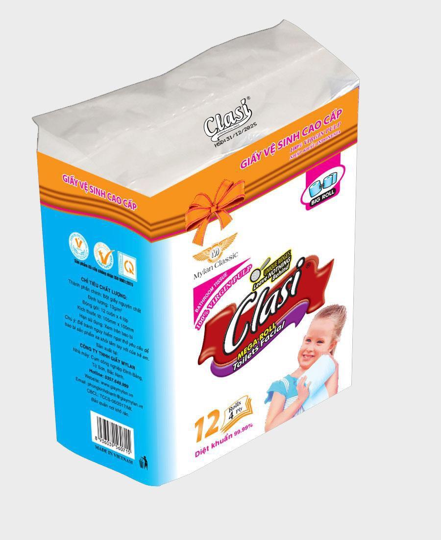 Giấy vệ sinh Clasi 12, 4Ply
