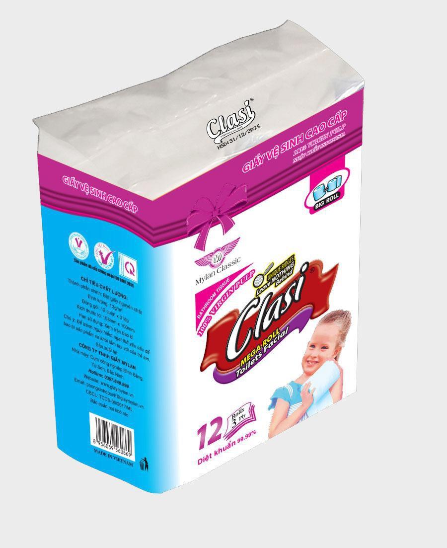 Giấy vệ sinh Clasi 12, 3Ply
