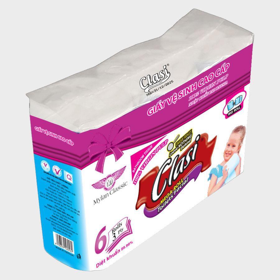 Giấy vệ sinh Clasi 6, 4Ply