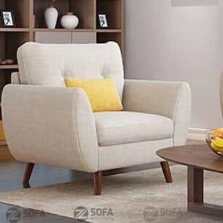 Sofa đơn trắng