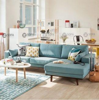 Sofa góc xanh