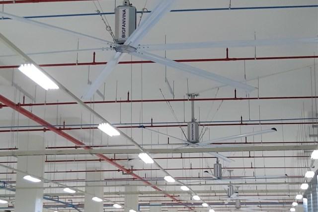 Thiết kế thi công quạt trần công nghiệp