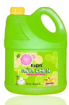Nước rửa chén tinh dầu thiên nhiên hương chanh gừng 4L