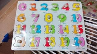 Bảng núm gỗ chữ số