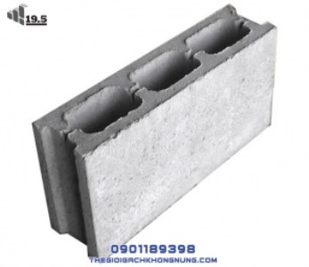 Gạch Block 3 lỗ 90x190x390