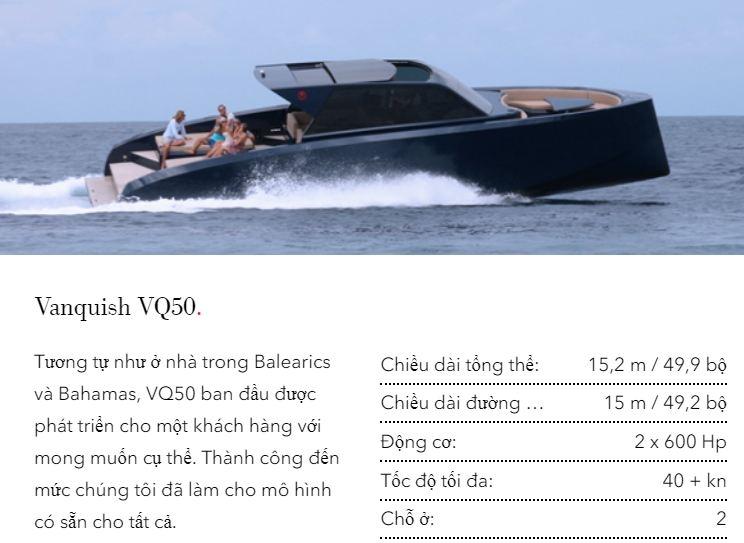 Thiết kế du thuyền VQ50