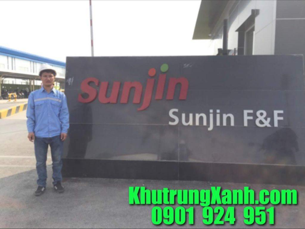 Phun sát trùng nhà máy Sunjin
