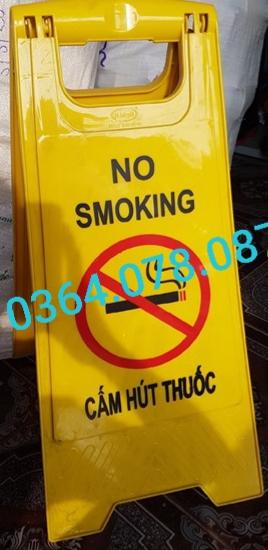 Biển chữ A - cấm hút thuốc