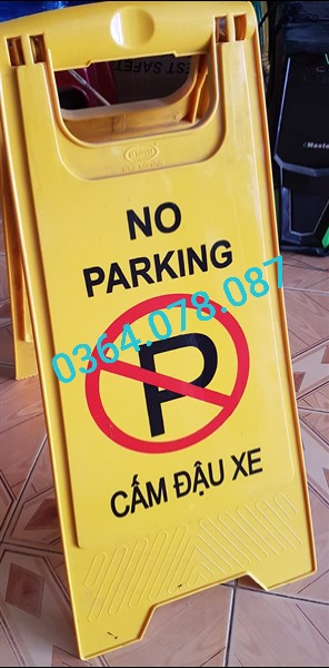 Biển chữ a - cấm đậu xe