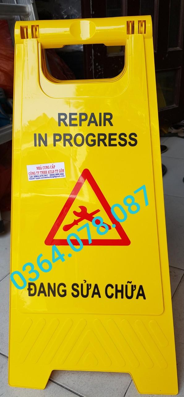 Biển chữ A - đang sửa chữa