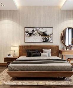 Giường ngủ gỗ óc chó tự nhiên