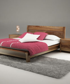 Giường ngủ gỗ óc chó tự nhiên hiện đại