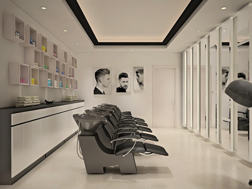 Nội thất cửa hàng cắt tóc
