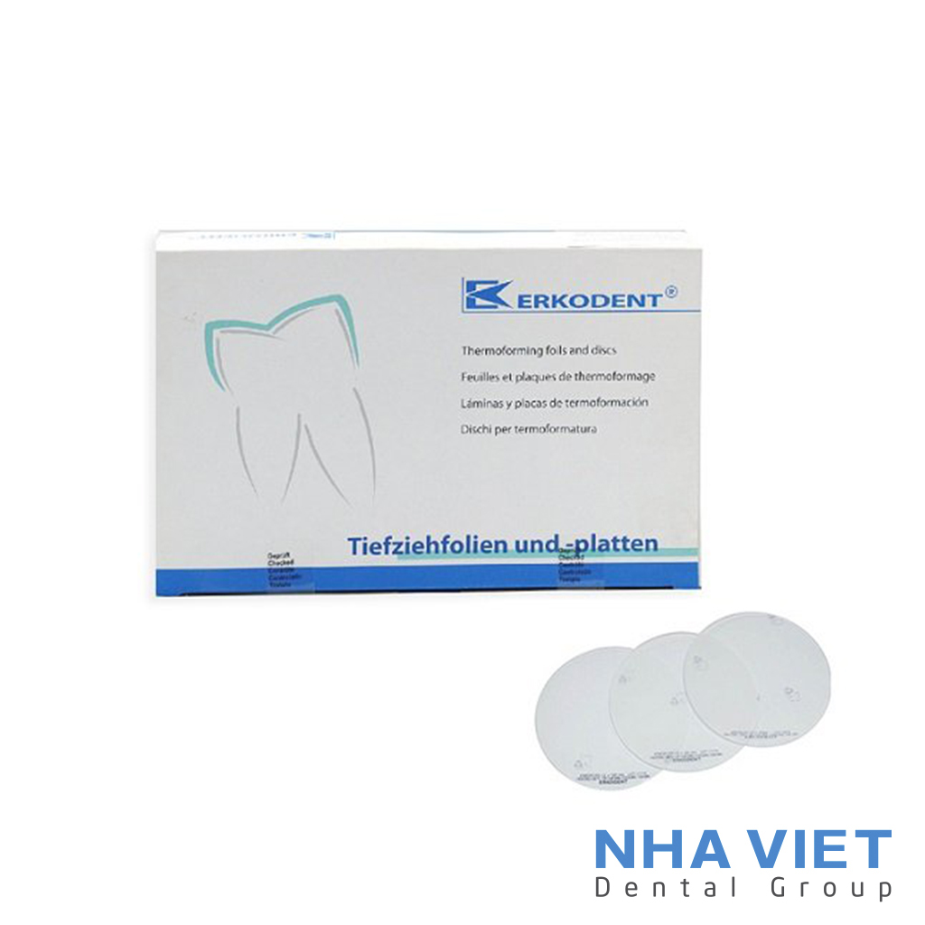 Nhựa ép khay niềng răng trong suốt Erkodent - 1