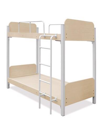 Giường gỗ khung sắt