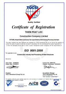 Chứng chỉ ISO 9001:2000