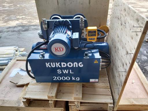 Palăng cáp điện dầm đơn 2 Tấn Kukdong Korea