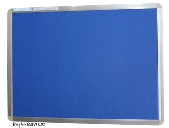 Bảng ghim vải bố xanh biển