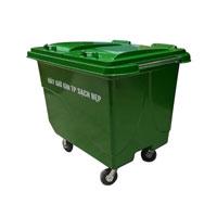 Thùng rác Composite 4 bánh