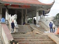 Công trình sân vườn khu tưởng niệm nhà thờ Bác Hồ