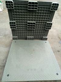 Pallet nhựa xám 1000x1000x85mm