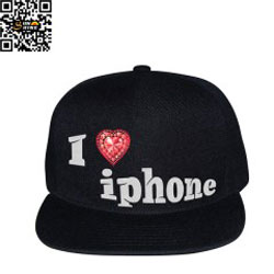 Mũ i love iphone hiphop