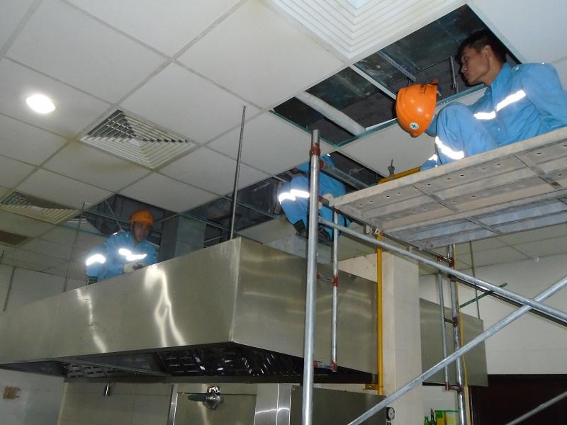 Thi công hệ thống thông gió  tòa nhà