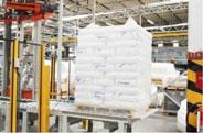 Màng PE quấn pallet ngành sản xuất hạt nhựa