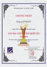 Giải bạc chất lượng quốc gia 2011