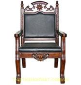 Ghế gỗ bọc da