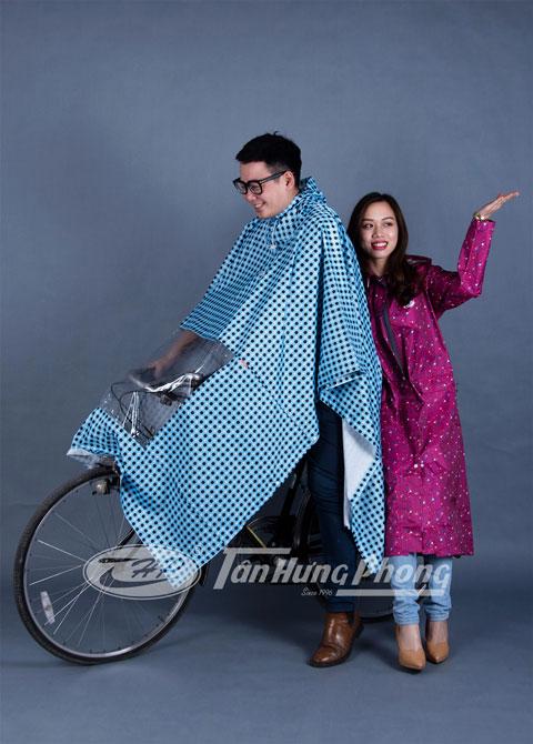 Áo mưa mũ vải hoa nhựa - Polyester