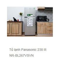 Tủ lạnh Panasonic 238 lít