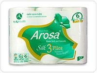 Arosa 6Cuộn - 3Lớp xanh