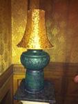 Đèn gốm sứ giả trống đồng