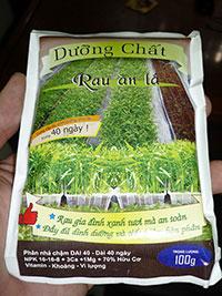 Phân bón cho rau ăn lá