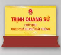 In bảng chức danh