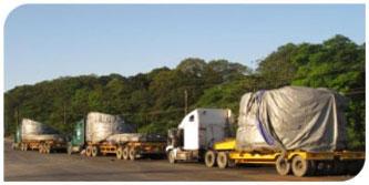 Vận tải hàng siêu trường siêu trọng bằng đường bộ