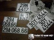 Truy tìm biển số xe