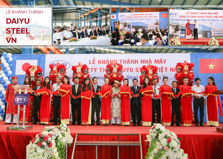 Lê khánh thành Nhà máy Daiyu Steel VN