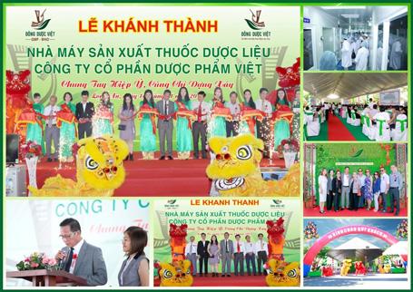 Lễ khánh thành Nhà máy SX thuốc dược liệu Việt
