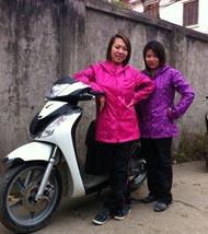 Bộ quần áo mưa nữ 2 lớp