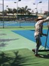 Thi công sơn sân tenis ngoài chơi