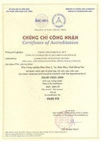 Chứng chỉ chứng nhận ISO/IEC 17025