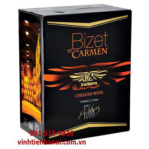 Rượu vang Chile 13.5% hộp 3 lít